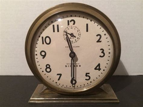 antique westclox big ben brass chime alarm clock wind up 1931 1934 americana alarm clock