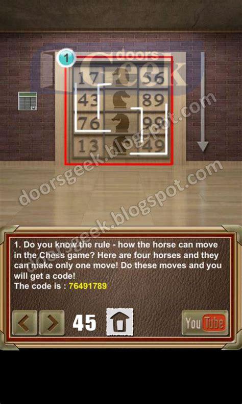 door 45 on 100 doors game 100 doors of revenge level 45 doors geek