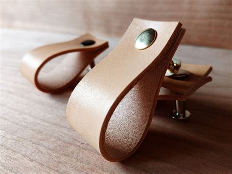 Etsy Drawer Knobs by Leather Tab Cabinet Pulls Best Cabinet Decoration