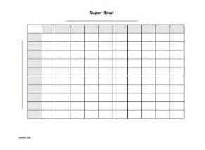 Super bowl 100 square grid