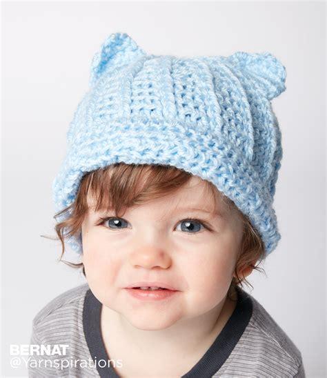 baby hat bernat baby crochet hat crochet pattern