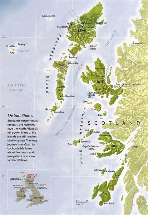 hebrides map hebrides islands map hebrides mappery islands