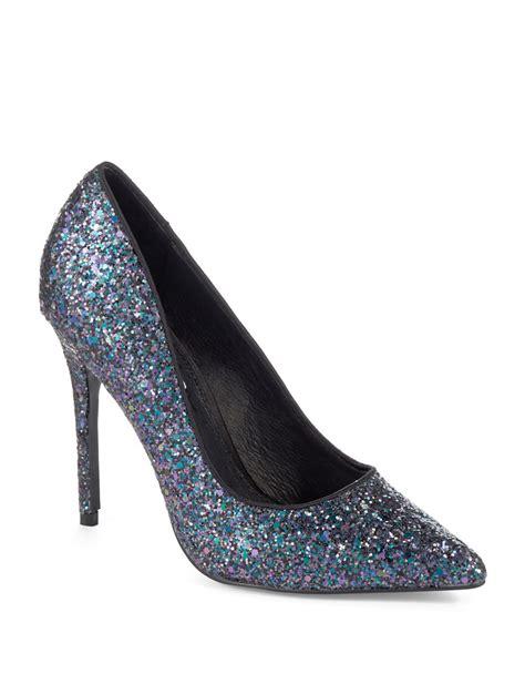 steve madden sparkly high heels lyst steve madden atlantyc glitter pumps in blue