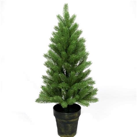 3ft hton spruce potted feel real artificial christmas tree best 28 potted artificial tree 3ft woodland carolina pine potted artificial
