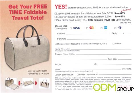 design news magazine subscription gift with subscription free time foldable travel tote