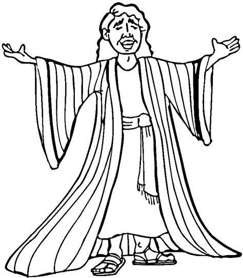 coloring pages joseph and the coat of many colors joseph and his coat of many colors coloring page az