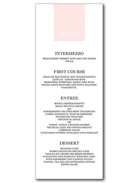 posh menu template posh menu template 28 images garden wedding