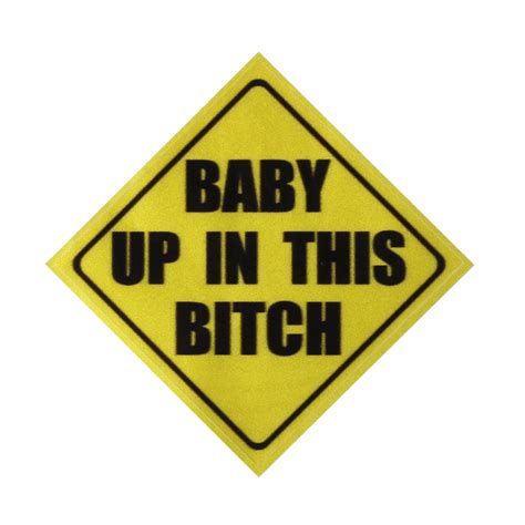 Car Yellow Sticker by 4 215 4 Inch Yellow Warning Baby In Car Vinyl Decal Sticker