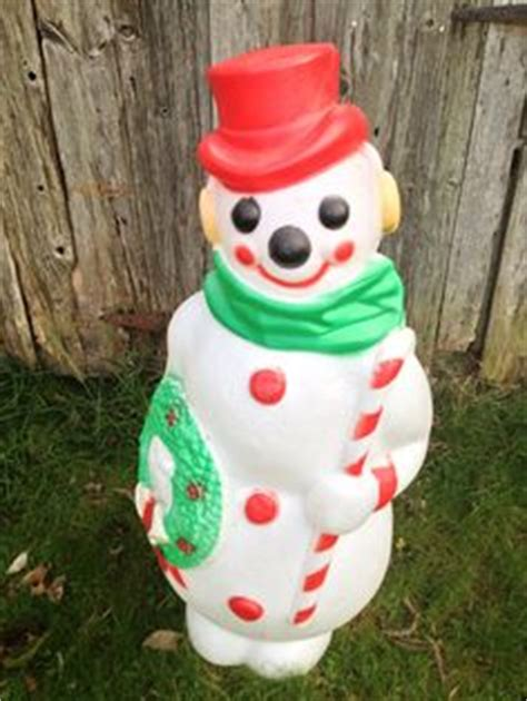 vintage large lighted blow snowman 1000 images about mold collecting on empire snowman and plastic