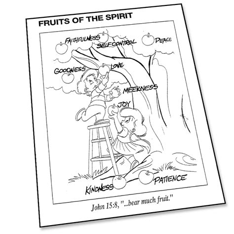free fruit of the spirit coloring pages coloring home