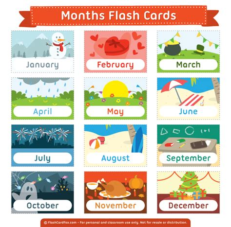 printable flash cards pdf free printable months flash cards download them in pdf