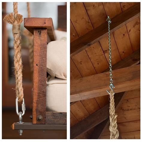 hanging a porch swing with rope swing bed hanging rope the porch companythe porch company