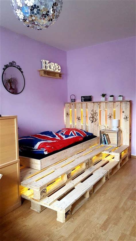 lights for beds toddler pallet bed with led lights