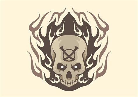 skull with flames tattoo designs flames free vector 2275 free downloads