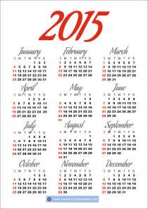 Free Downloadable 2015 Calendar Template by Printable 2015 Calendar