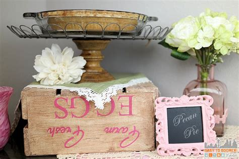 create  antique paint finish wood crate