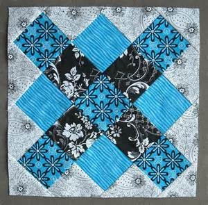 Black And Blue Quilt Crafter Without A Cat Blue And Black Squares Quilt
