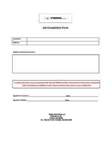 Completion Form Template by Best Photos Of Completion Form Template Work
