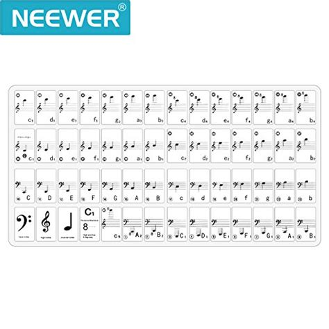 piano and keyboard note stickers neewer 174 piano and keyboard note set stickers