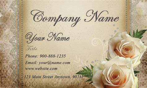 White Roses Wedding Floral Business Card   Design #701081