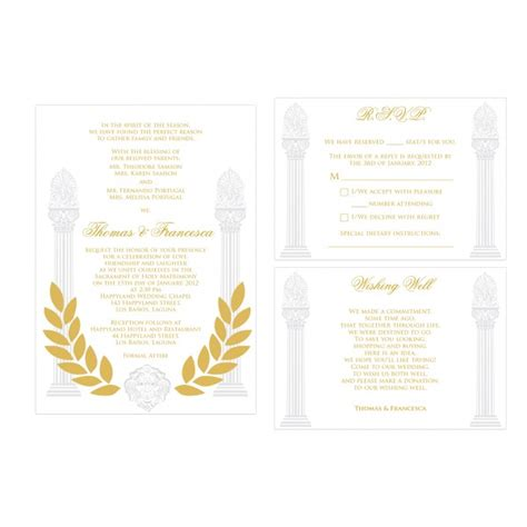greek goddess wedding invitation diy printable template