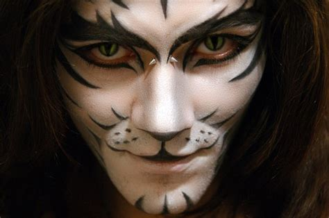 scary cat painting ideas makeup for white tiger painting
