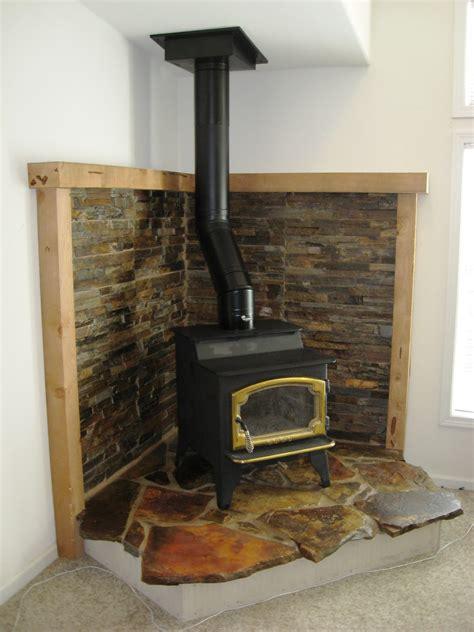 corner wood fireplace rustic corner hearth design