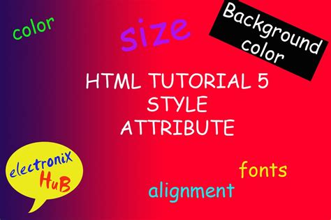 html tutorial text color html tutorial 5 style attribute background color color
