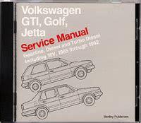 service and repair manuals 1992 volkswagen gti parking system volkswagen gti golf jetta service manual 1985 1992