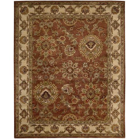 shop nourison jaipur rust indoor handcrafted area rug
