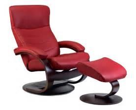 fjords trandal ergonomic leather c frame recliner chair ottoman scandinavian norwegian lounge
