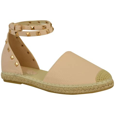 Summer Sandals In womens espadrilles ankle strappy flat summer