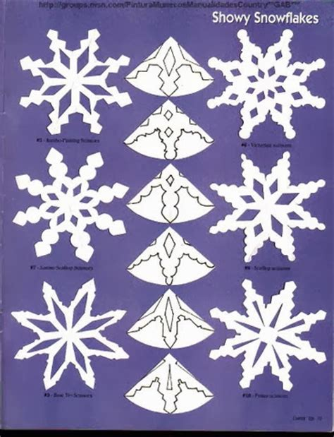 Snowflake Craft Paper - paper snowflakes patterns the idea king