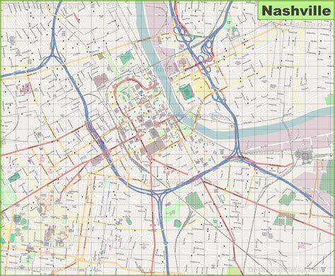 map of nashville large detailed map of nashville