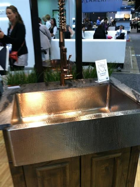 lead free copper sinks 46 best kbis 2012 images on faucets kitchen