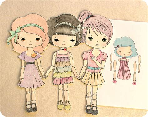 design your own jointed doll gingermelon dolls free paper doll and the mini