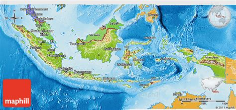 Karet Alam Terbaru physical 3d map of indonesia political shades outside