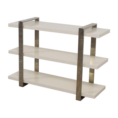 west elm white bookcase 35 off west elm west elm three shelf modern white