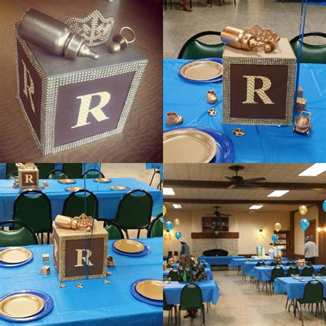 Handmade Centerpieces For Baby Shower by Handmade Centerpieces My Prince Baby Shower