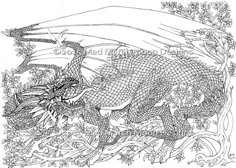 hard dragon coloring pages for adults the dragon page colouring competition mad march moon