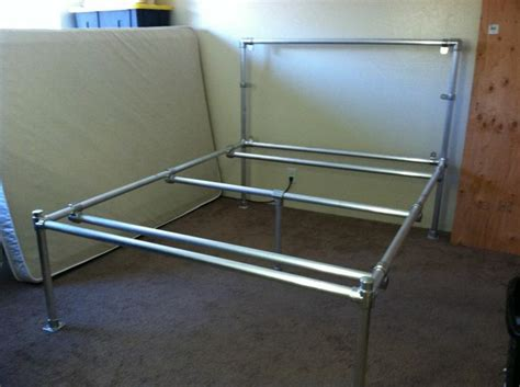 pipe bed frame diy aluminum pipe bed frame pipe furtinure pinterest