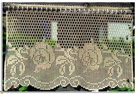 cortinas en crochet filet  patrones gratis