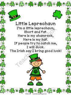 poem from a leprechaun shamrock acrostic poem poem them 1000 images about st patricks day on pinterest