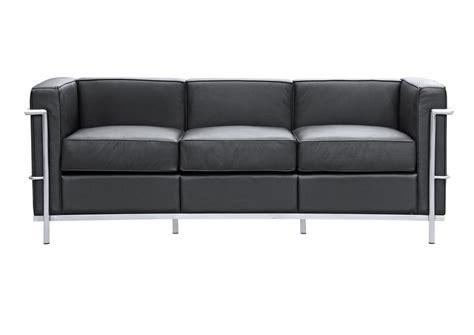 lc2 sofa lc2 sofa le corbusier style furnishplus