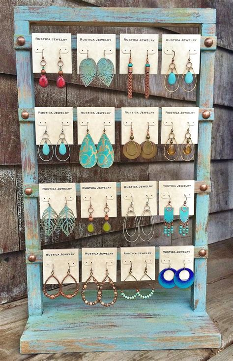 How To Display Handmade Jewelry - shabby chic earring display www rusticajewelry