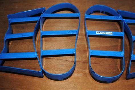 Membuat Pisau Pond kap sandal barutino sandal