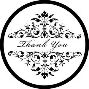damask wedding thank you stickers labels tags