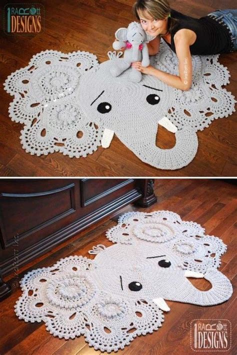 Elephant Rug Knitting Pattern by Crochet Animal Rugs Beautiful Patterns Crochet Animals
