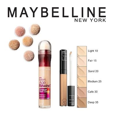 Maybelline Instant Age Rewind Shade Light qoo10 maybelline concealer cosmetics