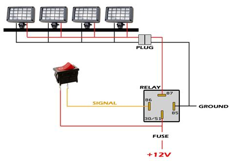 Atv Led Light Wiring Diagram Free Diagrams Input Bars Bar Wiring Led Lights